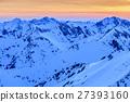 Fagaras Mountains in winter, Romania 27393160