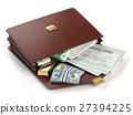 Stock market portfolio concept. Briefcase 27394225