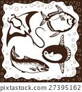 Set silhouette ocean fish 27395162