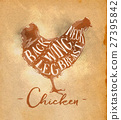 Chicken cutting scheme craft 27395842