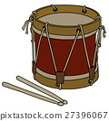 Old military drum 27396067