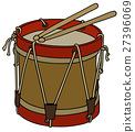 Old military drum 27396069