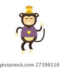 Vector monkey icon. 27396316