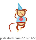 vector, monkey, animal 27396322
