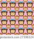 vector, monkey, pattern 27396324