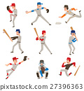 Baseball player vector icon. 27396363