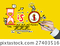 time is money written by hand 27403516