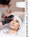 Permanent make-up wizard makes eyebrow correction 27404487