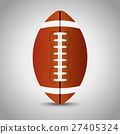 American football on grey background. 27405324
