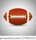 American football on grey background. 27405325