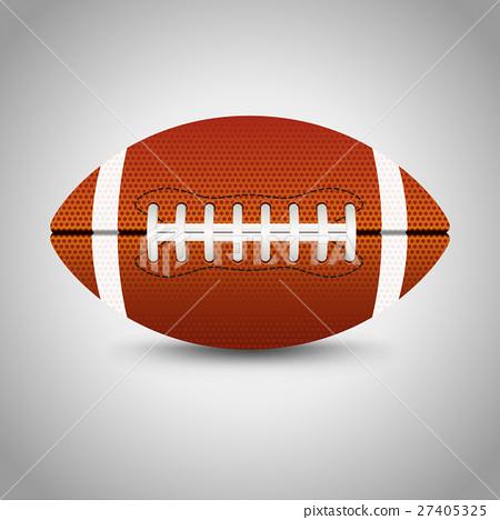 American football on grey background. 27405325
