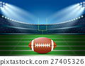 American football on field of stadium. 27405326