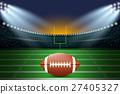 American football on field of stadium. 27405327