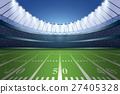 American football stadium with spotlight. 27405328