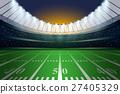 American football stadium with spotlight. 27405329