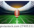 American football on field of stadium. 27405331