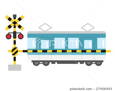 Railroad crossing illustration 03 27406493