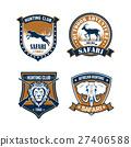 打獵 動物 徽章 27406588