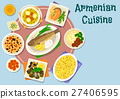 Armenian cuisine dinner icon for menu design 27406595