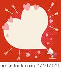 バレンタイン背景 27407141