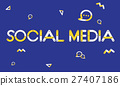 Geometric Font Media Technology Sharing Concept 27407186