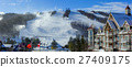 winter, resort, ski 27409175
