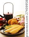 herring roe, datemaki, kamaboko 27409958