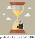 Businessman stuck in sandglass 27410484