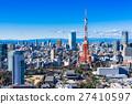 東京塔和城市景觀 27410597