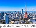 東京塔和城市景觀 27410598