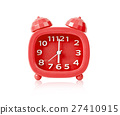 Red alarm clock isolated. 27410915