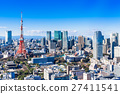 東京塔和城市景觀 27411541