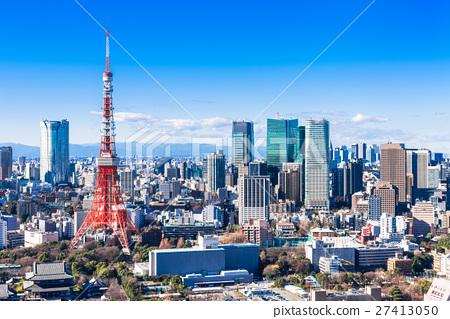 東京塔和城市景觀 27413050