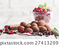 chocolate truffles with cranberry 27413209