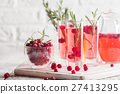 Refreshing drink with cranberries 27413295