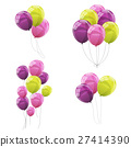 Color Glossy Balloons Set Vector Illustration 27414390