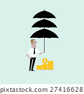 Manager or businessman wtih the umbrella 27416628