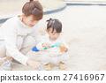 父母身份 父母和小孩 砂坑 27416967