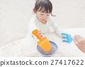 모래 장난 여자 유아 27417622