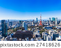 東京塔和城市景觀 27418626