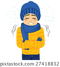 Man Freezing Shivering 27418832