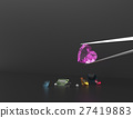 Collection of gemstones. 3D illustration 27419883