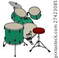 Green percussion set 27423085