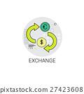 Euro Dollar Coin Money Exchange Finance Icon 27423608