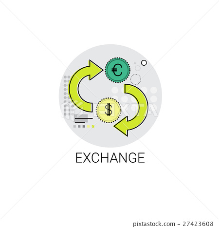 Euro Dollar Coin Money Exchange Finance Icon 27423608