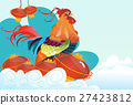 Happy New 2017 Year Rooster Bird Chinese Lantern 27423812