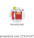 Fax Machine Work Office Technology Device Icon 27424197