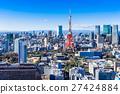 東京塔和城市景觀 27424884