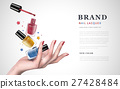 colorful nail lacquer ad 27428484