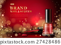 Red nail lacquer ads 27428486